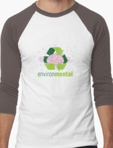 EnvironMental — Recycle Girls Men's Baseball ¾ T-Shirt