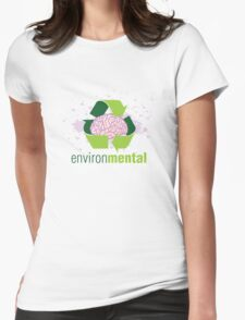 EnvironMental — Recycle Girls Womens Fitted T-Shirt
