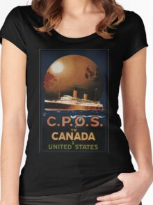 Vintage poster - CPOS Women's Fitted Scoop T-Shirt
