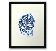 Saphire Dragons Framed Print