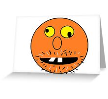 Crazy Face Greeting Card