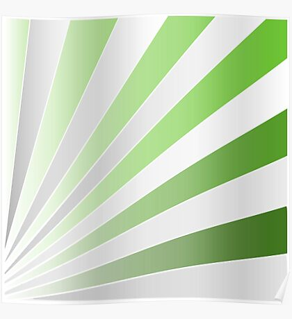 silver and green rays Poster