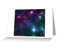 Hexagon pattern space effect Greeting Card