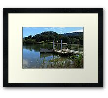 Picnic Boat On The Tweed River At Tumbulgum Framed Print