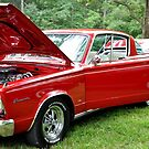 """'66  Plymouth Baracuda """"In the Red""""  by Wviolet28"""
