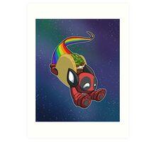 Nyan Deadpool Taco Cat Art Print