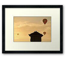 Hot Air Ballon x3 Framed Print