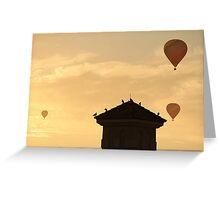 Hot Air Ballon x3 Greeting Card