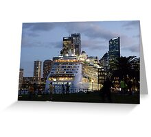 'Radiance of the Seas' in Sydney Greeting Card