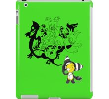 Music Demon Green iPad Case (Black Outline) iPad Case/Skin