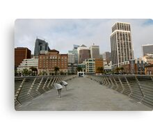 Pier to the City Canvas Print