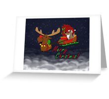 Moose and Trickster wish you a Merry Christmas! Greeting Card