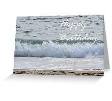 Ocean wave birthday card Greeting Card