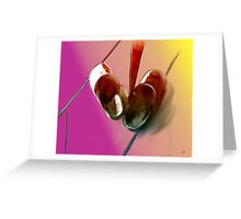 Shoes Under the Table Greeting Card