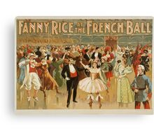 Vintage poster - Fanny Rice at the French Canvas Print