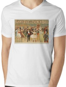 Vintage poster - Fanny Rice at the French Mens V-Neck T-Shirt