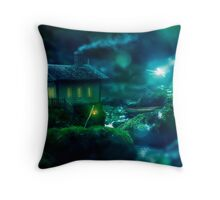 Wind in the Willows - Rattie's Cottage Throw Pillow