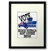 Australian Liberal Party Framed Print