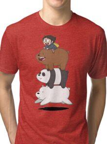 We bare Bears Bearstack! Tri-blend T-Shirt