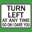 TURN LEFT ANY TIME by Jason Langer
