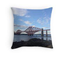 The Forth Rail Bridge.  Throw Pillow
