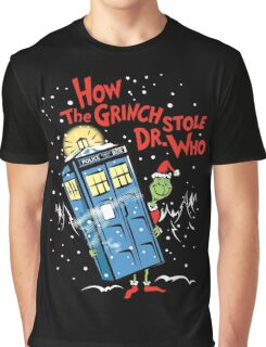 How the Grinch Stole Dr Who (on Dark) Graphic T-Shirt