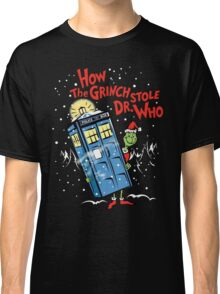 How the Grinch Stole Dr Who (on Dark) Classic T-Shirt