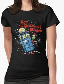 How the Grinch Stole Dr Who (on Dark) Womens Fitted T-Shirt