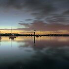 Dusk on the water by athex