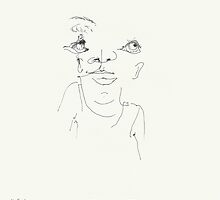 Night & (Nap) Drawings 96  - 4th August  -  made Eyes closed by Pascale Baud