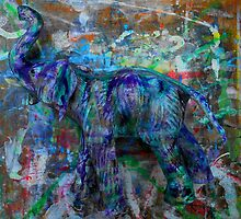 abstract elephant by songsforseba