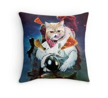 Sir Space Pumpkin Throw Pillow