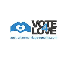 #Vote4Love (Logo) - iPad by Australian Marriage Equality