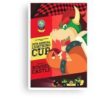Bowser Mario Kart Canvas Print