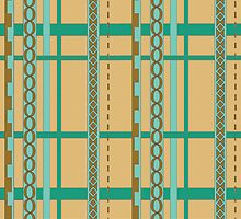 Abstract ribbon pattern by CClaesonDesign