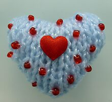 Hand Knitted Heart by mrsmcvitty