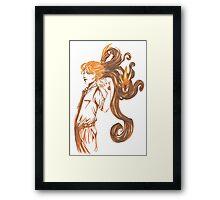 Amber Dragons Framed Print