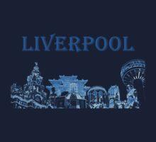 Liverpool city montage Kids Tee