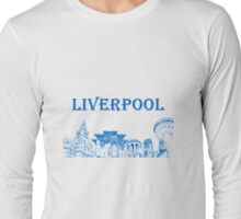 Liverpool city montage Long Sleeve T-Shirt