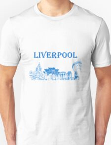 Liverpool city montage Unisex T-Shirt