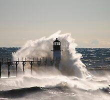 St Joseph North Pier Lighthouse - 40 by Debbie Mueller