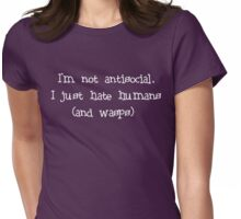 Antisocial Womens Fitted T-Shirt
