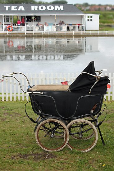 Afternoon Tea and Vintage Pram  by AndyLanhamArt