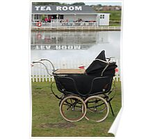 Afternoon Tea and Vintage Pram  Poster