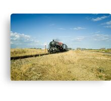 Winston Churchill at Dungeness Canvas Print