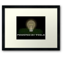 Powered by Tesla - Bulb Framed Print