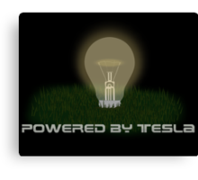 Powered by Tesla - Bulb Canvas Print