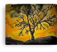 Tree Mono-type #1 Canvas Print