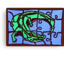 gator (pieces of the puzzle 2) Canvas Print