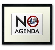 No Agenda Logo - Medium Prints and Stretched Canvas Framed Print